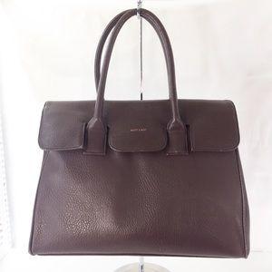 Mat & Nat Vegan faux leather Satchel Bag in brown